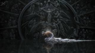 dark, girl, Blood, Fantasy, wings, angels, elf, digital art, artwork, princess, swords, fantasy art, skeletons