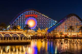 Disneyland, Park, home, the pond, California, Anaheim, night, Design, garland, the city