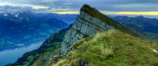Switzerland, Аппенцелль, Alps, Hinterrugg, widescreen