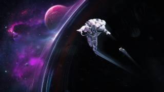 astronaut, Планета. Цифровое искусство