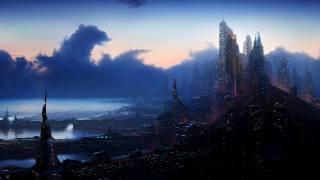 fantasy, sunset, morning, panorama