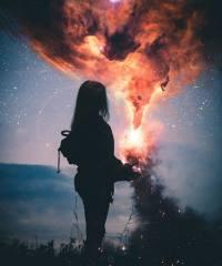 fantasy, the dark background, art, creative