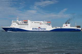 sea, ship, Brittany Ferries, MV Baie de Seine, side