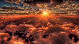 slunce, mraky