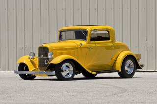 1932, Ford, Three-Window, Coupe, hot rod rods, Retro