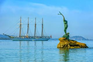 Spain, sailboat, monument