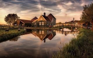 nizozemsko, řeka, most