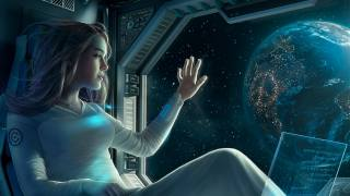 holka, loď, Sci-fi, obrázek