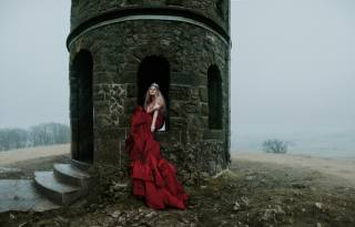 Princess, tower, landscape, cosplay