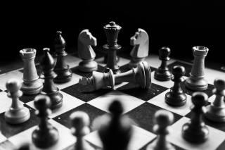 šachy, černé a bílé, rozostření pozadí, hry