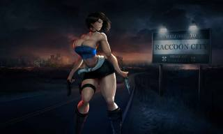 Jill valentine, resident evil, hentai, raccoon city, game, Beautiful, weapons, Anime, knives