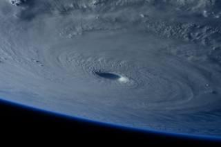 ураган, земля, космос, воронка, облака, гроза