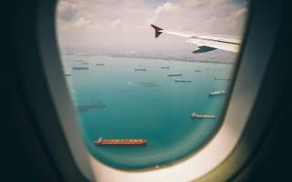 letadlo, let, okénko