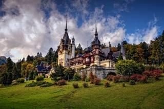 замок, Румыния, Peles, замок, Sinaia, природа