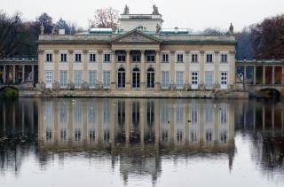 the mansion, the pond, reflection