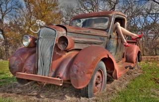 Auto, retro, junk