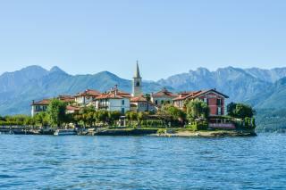 Italy, mountains, island, the lake, home, lake, Maggiore, Pescatori Island, Alps, nature