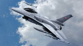 Истребитель, Ф-16, облака