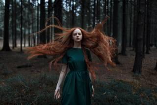 girl, long hair, in the forest, photographer, Ульяна Найденковая