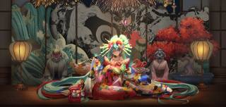 Hatsune miku, вокалоід, Ігри, games girl, kimono, Метелик