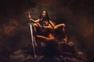 Девахи, obraz, fantasy, tvůrčí