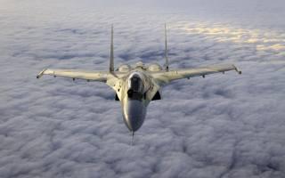 су-35, самолет, полёт, облака