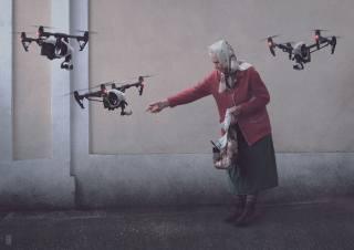 babička, дроны, tvůrčí