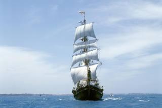 sea, wave, ship, sailboat