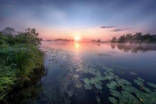 říčka, svítání, fotograf, Андрей Чиж