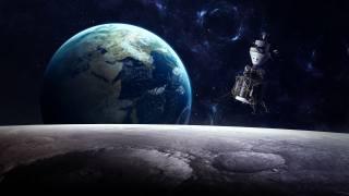 měsíc, země, Модуль, satelit