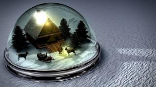 svátek, Nový rok, hračka, sníh