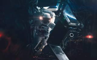 astronaut, пространство, станция