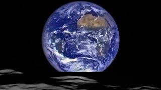 небо, луна, космос, земля
