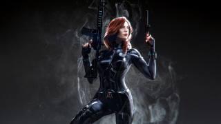 black, Widow, Marvel, superhero