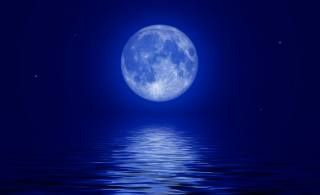 nature, beauty, night, night, the sky, the moon, Lunar, planet, star, stars, light, the full moon, water, reflection