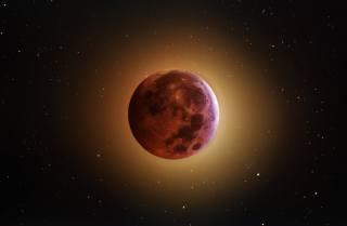 місяць, темний фон