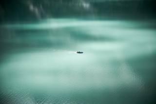 loď, jezero, odraz, живописный, расслабляющий, náladu, klid