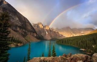 Banff National Park, Park, nature, the lake, Canada