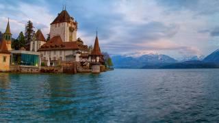 Švýcarsko, dům, jezero
