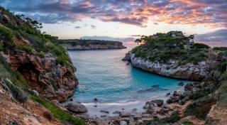 Испания, побережье, Мальорка, Майорка, море, скала, облака, природа