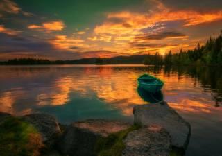 water, reflection, landscape