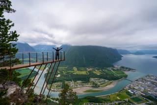 Norsko, hory, Trollveggen, mraky, SHORA, příroda