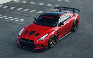 nissan, gt-r, red, sports car, tuning
