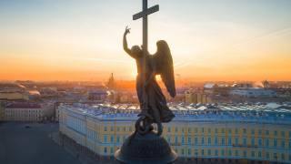 Петербург, пітер, ангел, світанок