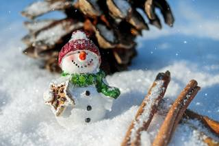 New year, winter, snow, snowman