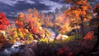картина;арт, осень