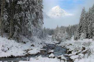 зима, сніг, природа, вершина