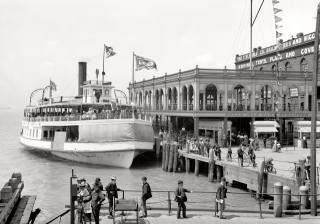 корабель, порт, люди, Детройт, США, 1898