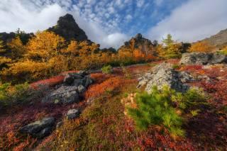 горы, осенью, Михаил Туркеев