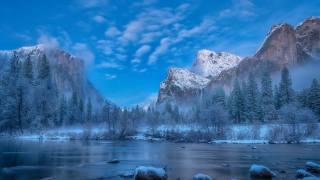 природа, гори, озеро, ліс